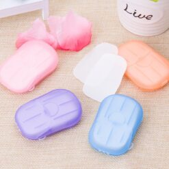 120 PCs Disposable Paper Soap Germs Cleaner For Travel Outdoor