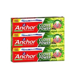 Anchor Tooth Paste Clove Power 175 gm (Pack Of 3) With Free Tooth Brush