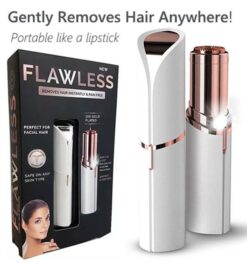 Flawless Finishing Touch Women's Painless Facial Hair Remover With Rechargeable Battery