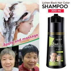 Lichen Black Hair Color Shampoo 200 ML
