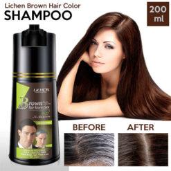 Lichen Brown Hair Color Shampoo 200 ML