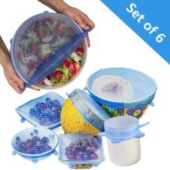 Stretchable food silicone lid 6 pieces