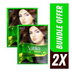 Vatika Henna Natural Brown Hair Color 10g 2 PCs Bundle offer