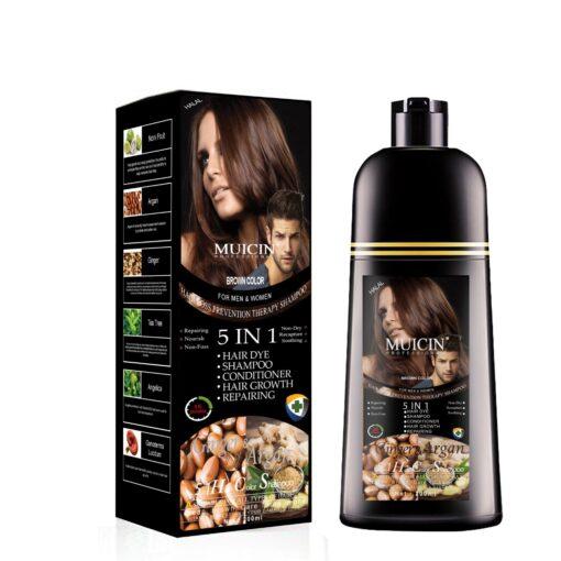 Muicin 5 in 1 Hair Dye color shampoo 200 ML Dark Brown