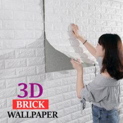 3D Bricks Wall Sticker for Bedroom Living Room Background TV Decor