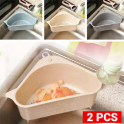 2 Plastic Basket for Garbage Filter Storage for Sinks (2)