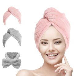 Hair Towel Wrap Turban Microfiber For Women & Girl