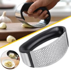 Arc Shaped Stainless Steel Garlic Press