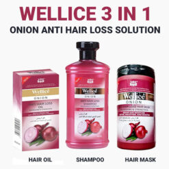 Wellice Onion Anti Hair loss Solution 3 in 1 Deal