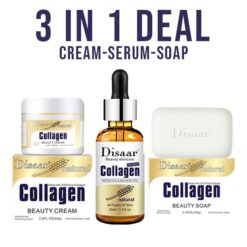 3 in 1 Deal Disaar Collagen Skin Care Products Cream, Soap & Serum