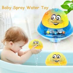 Children Electric Induction Sprinkler Water Spray Toy Light Baby Kids Play Bath Toys (2)