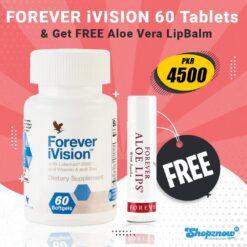 Forever Vision Food Supplement 60 Tablets + Free Jojoba Lip Balm