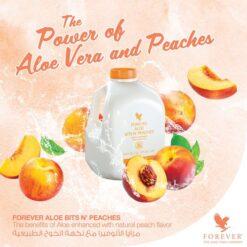 Forever Living Aloe Bits & Peaches 1 Liter