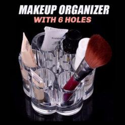 Acrylic Makeup Organizer With 6 Holes