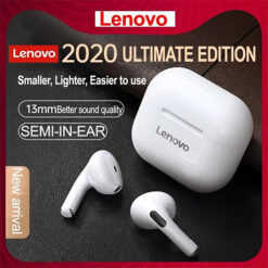 Lenovo LP40 TWS Wireless In-ear Bluetooth Earphone Headset Stereo Touch Control Headphone HD Call Earbuds (White & Black) (3)