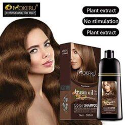 Mokeru Hair Color Shampoo 500 ML with Argan Oil (2)