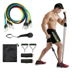 Resistance Band Set with 5 Colored Tube Bands