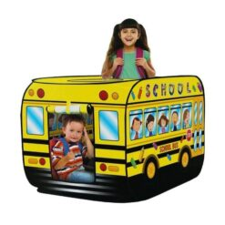 Yellow Pop-Up School Bus Play Tent House
