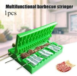 BBQ Meat Skewer Machine Device, Portable Tool Kebab Maker, 3-in-1 Meat String Device (1)