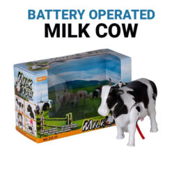 Battery Operated Milk Cow Toy Animal with Movement and Sound (Model 333) (1)