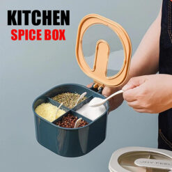MULTIPURPOSE KITCHEN SPICE BOX WITH SPOONS 4 PORTION (4)