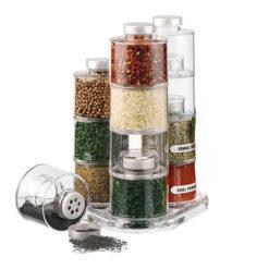 Spice Tower Carousel – 12 Spice Jar Bottles (1)