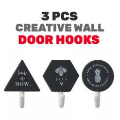 Creative Wall Door Hooks 3 Pcs