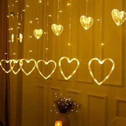Curtain String Light Heart-Shaped LED String Lights Christmas Wedding Party Decoration Led Fairy Light String 2 M