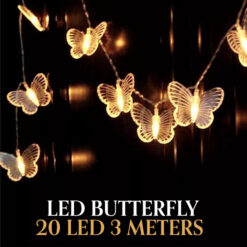 Led Butterfly fairy lights 20 LED 3 Meters