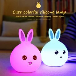Rechargeable Rabbit LED Night Light Cute Bunny (3)