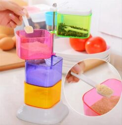 4 Layer Colourful 360 Degree Rotating Spice Rack