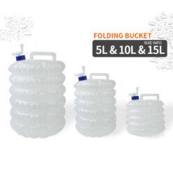 Water Tank Collapsible Storage Bucket PE Hiking Camping Water Food Grade