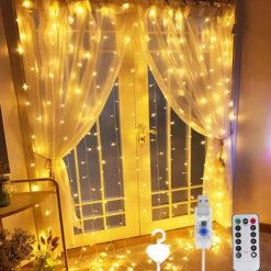 Window Curtain String Light 300 LED (3)